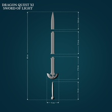 sword light dragon quest xi weapon melee cosplay blade sword sowrdoflight dragonquest dragon quest 3dprint lowpoly highpoly toys printready games games toys