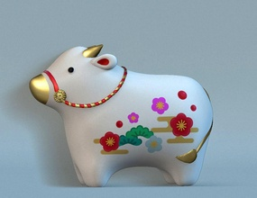 symbol year 2021 bull maskot toy japanese buffalo japan symbol figurine newyear games toys games toys newyear2021 2021 symbol2021 statue