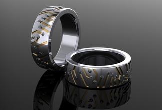 techno anel joalheria luxo precioso ouro esterlina jóia imprimível prata gema diamante anel moda anel riqueza argolas