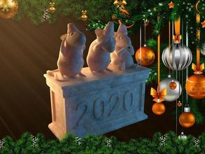 tres ratón de recuerdos juegos-juguetes de juguete el ratón 2020 de navidad la diversión tienda de regalos happynewyear feliz nuevo año 3dprint presente la rata juegos los juguetes la filosofía juegos de juguetes