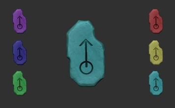 tíbia Hmm runa cgi imprimível 06 variações tíbia runa miniatura jogos personagem pingente mago cgi Hmm pesado Magia míssil luz parede energia piedosos feiticeiro