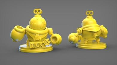 garrapata bw garrapata pelearse estrellas juego bomba 3d impresión figura Arte esculturas
