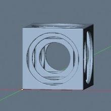 tri cube cubo matematica astratto geometrico geometrico forma geometria matematico complesso arte decorazione matematico arte