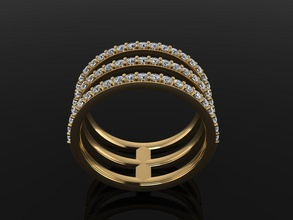 triple diamond row band ring mix size 4 5 6 7 8 9 10 jewelry ring band diamond diamond ring diamond band infinity infinity row layer stack stackable 3 row fashion trend women mix size style dainty rings