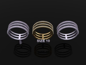 triple diamond row band ring size 10 jewelry ring band diamond infinity infinity diamond band diamond ring fashion trend women row row stack stackable 3 row mix size style size 10 layer rings