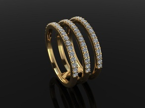 triple diamond row band ring size 4 jewelry ring band diamond row layer stack mix style size triple 3 row size 4 infinity infinity diamond ring diamond band fashion trend dainty rings