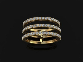 triple diamond row band ring size 5 jewelry ring band diamond infinity infinity row stack layer 3 row stackable diamond band diamond ring fashion trend women female mix style size 5 rings