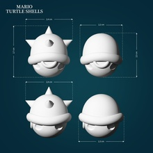 turtle shells mario mario turtle shell spiked spike turtleshell super supermario itsmemario lowpoly highpoly 3dprint videogame nintendo creature toys games toys game games accessories game accessories