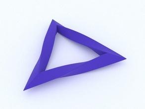 contorto triangolo arte sorprendente matematico matematica matematica geometria ciclo continuo scuola astratto geometrico contorto triangolo mobius striscia geometrico forma matematico arte
