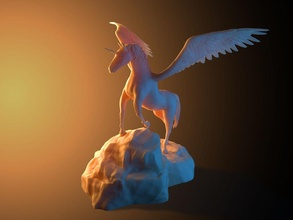 unicorno roccia unicorno cavallo fantasia immaginario creatura mitologico creatura alato giocattolo cavallo mitico magico leggenda creatura bestia Giochi giocattoli Giochi giocattoli