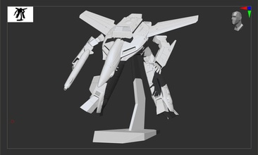 varitech macross impression robotech macross anime vf1 valkyrie avion meule robot avion chasseur impression impression impression modèle stl obj combat pose loisir DIY loisir DIY robotique