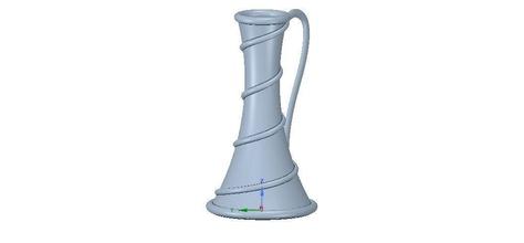 vase cup vessel v19 3d-print cnc art vessel urn  dust vase flower capacity wine jug gin decoration engraving milling carving woodcarving wood sculpture design garden decor art sculptures