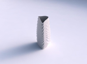 vase curved tipping triangle curved horizontal wavy sections house vase curved tipping triangle  curved horizontal wavy sections house decor
