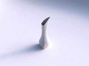 vaso inchados de maria joão triângulo curva seções horizontais vaso puffy maria joão triângulo  curvo na horizontal seções prato decoração de arquitetura a decoração a casa