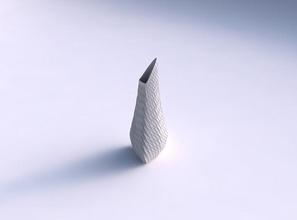 vaso puffy ponta do triângulo da torcida diagonal da grade de dentes vaso puffy derrubado triângulo  torcida diagonal grelha mossas prato decoração de arquitetura a decoração a casa