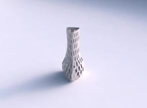 vaso puffy triângulo verificador de grade binomial 2 vaso puffy triângulo  verificador grelha lattice 2 prato decoração de arquitetura a decoração a casa