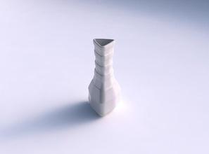 vaso puffy triângulo de suave horizontal fitas vaso puffy triângulo  suave na horizontal fitas prato decoração de arquitetura a decoração a casa