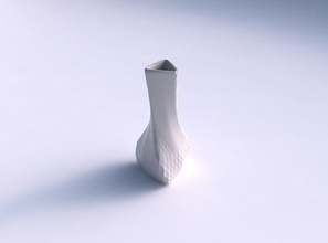 vaso de torção puffy triângulo diagonal padrão de grade vaso torção puffy triângulo  diagonal grelha o padrão prato decoração de arquitetura a decoração a casa