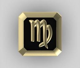 virgo cufflink zodiac horoscope astrological sign cufflink square metal gold jewelry jewel stone man male sleeve cuff mens clothing coins emal enamel cufflinks