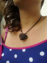 voronoi heart necklace necklace jewelry voronoi household other necklaces