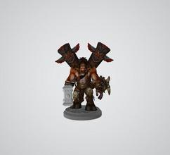 Warcraft stl expediente baine zueco figurilla 3d impresión Warcraft hombre escultura figurilla estatua personas ilustración Arte jefe Guau horda Alianza juegos juguetes figura caza estelar guerra
