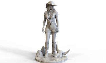 westen girl sculpture art cowgirl western girl west cowboy wear revolver horse outlaw texa woman art sculptures