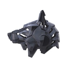 wolf helmet helmet wolf mask animal wild dj  casque crest headpiece dog cyber fanstastic fashion