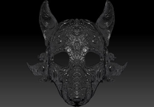 wolf mask wolf mask stl wolf mask masquerade wolf mask halloween art wolf mask stl masquerade halloween head printable diy 3d face art sculptures