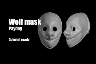 wolf payday mask helmet payday mask wolf hoxton dallas chains helmet face facemask man protect marvel corona spiderman ironman superman uniform games toys games toys other