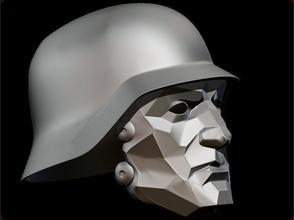 wolfenstein supersoldaten60 helmet helmet wolfenstein supersoldier soldaten wermacht airsoft mask cosplay 3dshophelmet game knight nazi games toys games toys accessories game accessories
