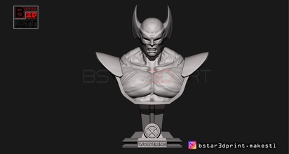 wolverine bust - x men - marvel art wolverine mask head face wolverine bust bust marvel comic xmen super hero hero art sculptures