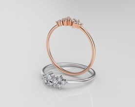 mujer anillo anillo mujer oro diamantes diseño joyería plata platino plano 3dprint rinoceronte brillante joya ringwomen designado joyería joya anillos
