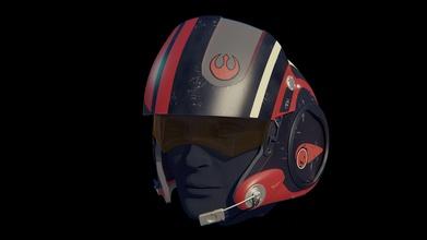 x wing piloto casco poe dameron estrella guerras casco estrella guerras darth vader guerra Galaxias Jedi cosplay sable luz Stormtrooper boushh ala poe dameron apuntalar accesorios 3d 3dprinting stl