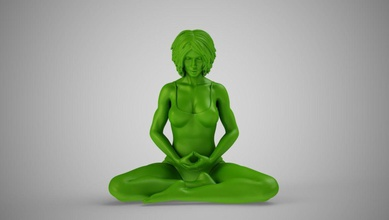 yoga woman art yoga pose woman meditation girl lotus balance exercise female fitness health lifestyle meditating one people relax relaxation sitting sport young art sculptures