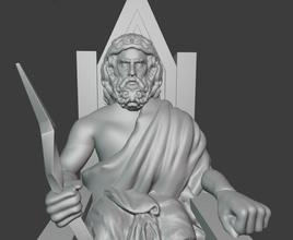 Zeus grego Zeus Zeusgod grego greeekgod romano Romangod ancientgod trono arte esculturas