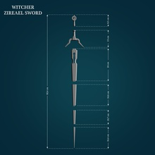 zireael sword witcher games-toys witcher zireael sword weapon cosplay 3d 3dprintready lowpoly highpoly toy game games toys games toys