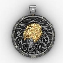 segno zodiacale leone pendente gioielli ciondolo zodiac leo oroscopo amuleto il fascino joss mascotte talismano gioiello gemma cnc la stampa oro argento gioielli ciondoli