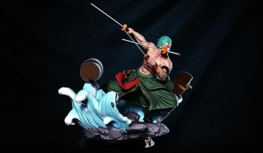 zoro 3d impression 2 têtes zoro Impression 3D statue 3d impression art sculptures
