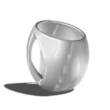 - egg design mug design egg caneca fashion home stl print
