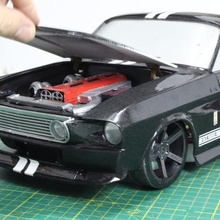 10th scale mustang shelby 1967 262mm wb rc car mustang shelby eleanor 10th scale two post lifts jack garage accessory scale tool scale addiction post lifts