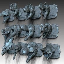 12 dino heads dragon dragons fantasy toy sculpture animal dinosaur dino