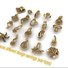 20-pieces earrings-0041-0060 earring tops top diamond-earrings gold-earring jhumka-tops bali buti gold-tops ear-tops