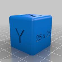 25 25 mm calibration cube bed calibration calibration calibration cube calibration part calibration print calibration test cube hypercube evolution printer calibration sparkcube z calibration 3d_printing_tests