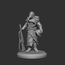 28mm trench fighter casual pose 1 v2 game trench fighters dkok death korps soldier 28mm