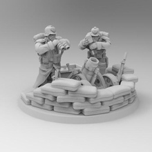28mm trench fighters mortar heavy weapon team game dkok death korps soldier mortar