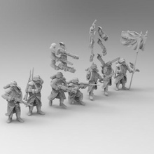 28mm trench fighters set 2 game warhammer 40k soldier death korps dkok