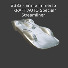 333 - ermie immerso kraft auto special streamliner collectible model car hobby retro classic car classic vintage diecast hot wheels 1/43 1/32 1/64 matchbox model kit custom diecast custom kit car vehicle sport car racing car ford race car racing nostalgic record car record speed record saltflats bonneville streamliner hotrod hot rod motorsport salt flats jump racer lakester the mirage ermie immerse immersive kraft auto special 333 kraft car