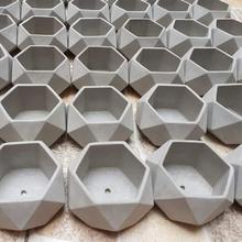 3 cemento maceta moldes ollas cemento molde decoración plantas Arte hormigón