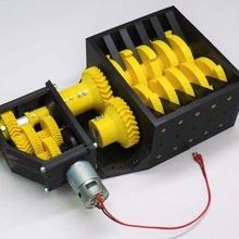 3d printable trituratore 3d printable 775 cuscinetti elicoidale guidare albero Ingranaggio riduttore ingranaggi elicoidale meccanico meccanica meccanismo pla albero trituratore Fai