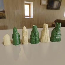3d printable medieval chess set pieces game knight rook bishop queen king pawn metal print 3d pieces lewis medieval chess